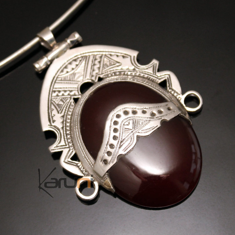 African necklace pendant sterling silver ethnic jewelry goddess head african necklace pendant sterling silver ethnic jewelry goddess head red agate oval tuareg tribe design 28 mozeypictures Images