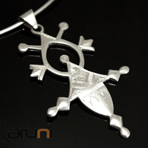 African southern cross necklace pendant sterling silver ethnic african southern cross necklace pendant sterling silver ethnic jewelry from iferouane niger tuareg tribe design 02 mozeypictures Image collections