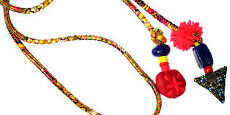Necklace in fashion fabric - ethnic jewelry