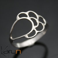 Thin Sterling Silver Ring Lace Flower Tuareg Ethnic African Jewelry Ombre Claire