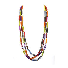 Organic Jewelry Multi Row Necklace Beads Vegetable Ivory Seeds Design Cariamanga Multicolor Otono Tagua and Co