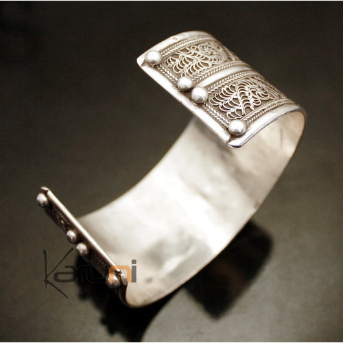 Nepalese Large Cuff Silver turquoise 31
