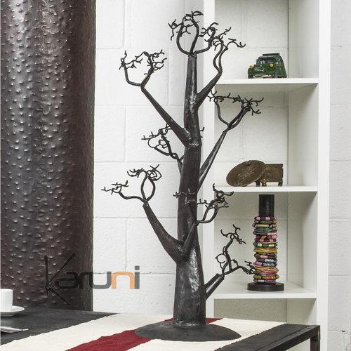 Jewelry tree holder design 30x30 cm cedar recycled metal - Portant vetement design ...