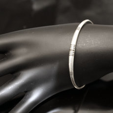 Ethnic Bracelet Sterling Silver Jewelry Ebony Round Men/Women Tuareg Tribe Design 04