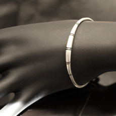 Ethnic Bracelet Sterling Silver Jewelry Ebony Round Men/Women Tuareg Tribe Design 05