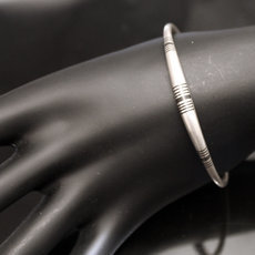Ethnic Bracelet Sterling Silver Jewelry Ebony Round Men/Women Tuareg Tribe Design 06