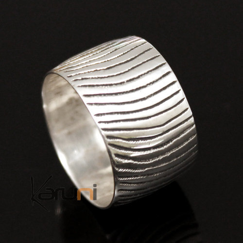 Ethnic Jewelry Ring Sterling Silver Waves Tuareg Tribe Design