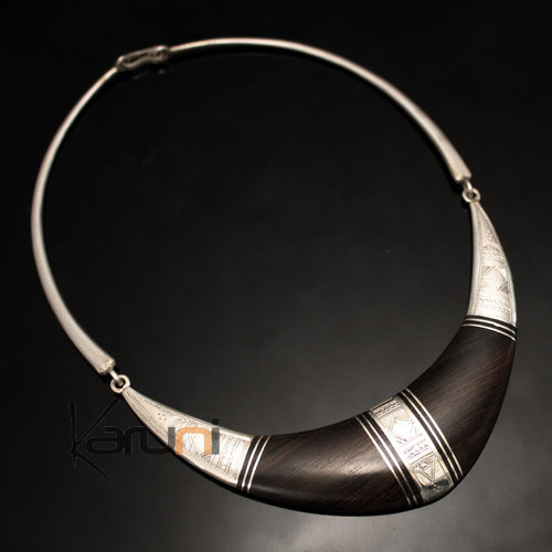 Nigerian Silver Ebony Necklace