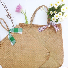 Tote Bag Crochet Work Shopping String Bag Trendy Cambodia Design Natural Sarany Shop