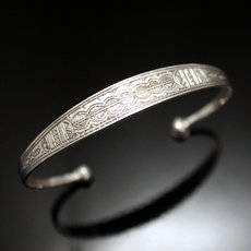Ethnic Bracelet Sterling Silver Jewelry Large Engraved Men/Women Tuareg Tribe Design 35