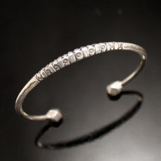 Ethnic Bracelet Sterling Silver Jewelry Engraved Angle Men/Women Tuareg Tribe Design 12