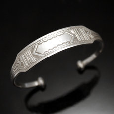 Ethnic Chain Bracelet Silver Jewelry Large Men/Women Tuareg Tribe Design 14