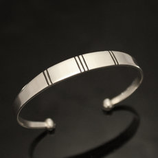 Ethnic Bracelet Sterling Silver Jewelry Large Ebony Men/Women Tuareg Tribe Design 19