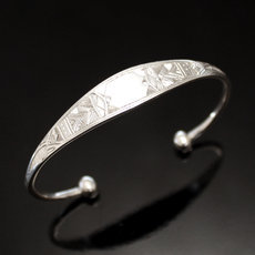 Ethnic Bracelet Sterling Silver Jewelry Large Engraved Men/Women Tuareg Tribe Design 36