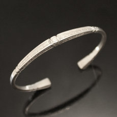 Ethnic Bracelet Sterling Silver Jewelry Engraved Square Men/Women Tuareg Tribe Design 02