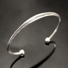 Ethnic Bracelet Sterling Silver Jewelry Engraved Angle Kid/Baby Tuareg Tribe Design 02
