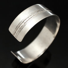 Ethnic Wide Bracelet Sterling Silver Jewelry Large Flat Engraved Men/Women Tuareg Tribe Design 16