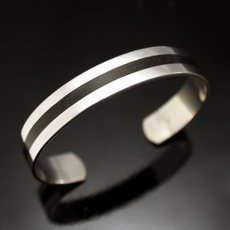 Large Tuareg city bracelet in silver 6