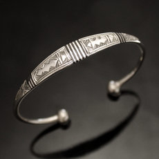 Ethnic Bracelet Sterling Silver Jewelry Large Ebony Men/Women Tuareg Tribe Design 20