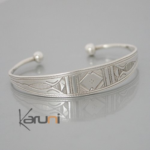 Ethnic Bracelet Sterling Silver Jewelry Large Engraved Men Women Tuareg  Tribe Design 13 bca7d40130