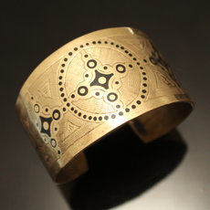 African Cuff Bracelet Ethnic Jewelry Bronze Engraved Mauritania 22