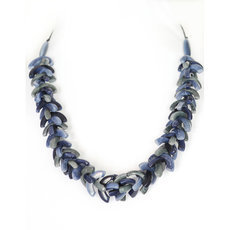 Organic Jewelry Beads Necklace Leaves Vegetable Ivory Seeds Design Agrio Mix of blue Tagua and Co
