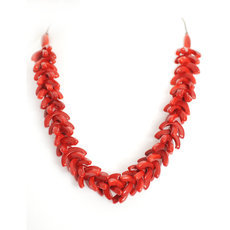 Organic Jewelry Beads Necklace Leaves Vegetable Ivory Seeds Design Agrio Red Tagua and Co