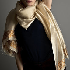 Women's Stoles Scarves for Women Ethiopian Fabric Woven Cotton Design Shemma Beige Dana Esteline