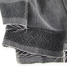 Women's Stoles Scarves for Women Ethiopian Fabric Woven Cotton Design Shemma Grey Dana Esteline