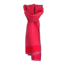 Women's Stoles Scarves for Women Ethiopian Fabric Woven Cotton Design Shemma Red Dana Esteline