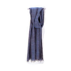 Women's Stoles Scarves for Women Ethiopian Fabric Woven Cotton Design Judith Blue Dana Esteline