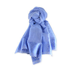 Women's Stoles Scarves for Women Ethiopian Fabric Woven Cotton Design Shemma Blue Dana Esteline