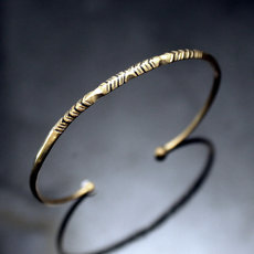 African Thin Bracelet Ethnic Jewelry Bronze Women/Kids Tuareg Tribe Design 04