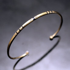 African Thin Bracelet Ethnic Jewelry Bronze Women/Kids Tuareg Tribe Design 05