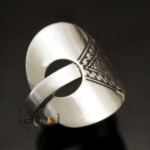 Ethnic Dome Ring Pink Jewelry Sterling Silver Tuareg Tribe Design KARUNI