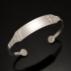 Ethnic Chain Bracelet Sterling Silver Jewelry Kid/Baby Tuareg Tribe Design 01