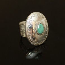 Marquise Ring Sterling Silver Jewelry Turquoise Engraved Tuareg Tribe Design 63
