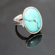 Marquise Ring Sterling Silver Jewelry Turquoise Engraved Tuareg Tribe Design 65
