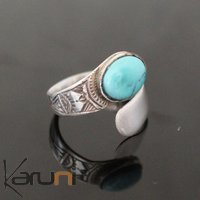 Marquise Ring Sterling Silver Jewelry Turquoise Engraved Tuareg Tribe Design 72
