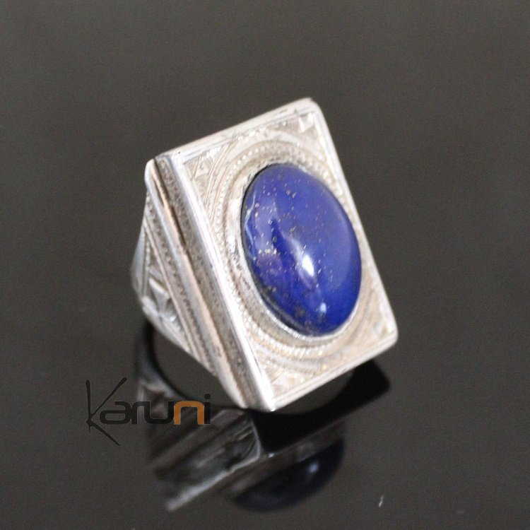 Marquise Ring Sterling Silver Jewelry Engraved Tuareg Tribe Design 45