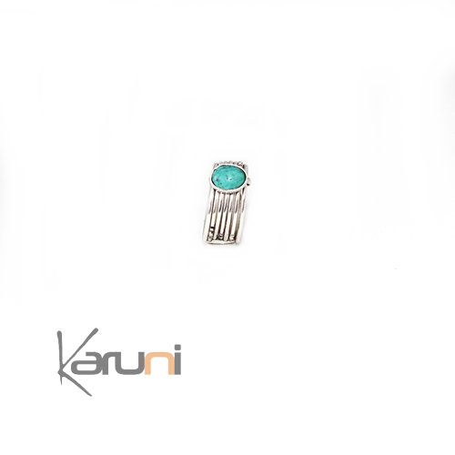 Nigerian Silver Turquoise weekly Ring
