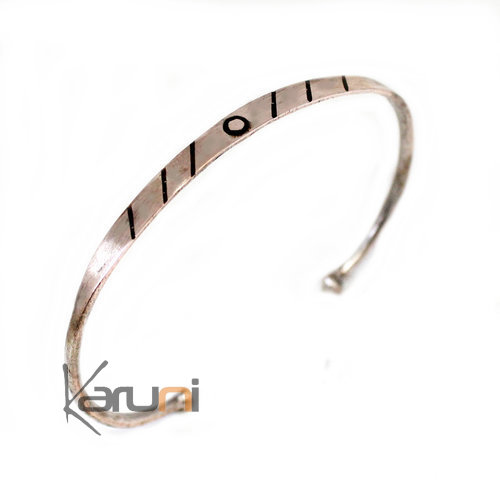 Mauritanian Mix Silver and copper Ebony Bracelet 3003