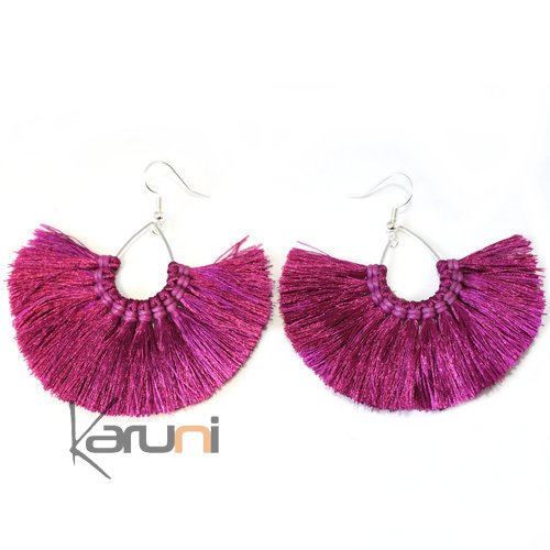 Purple Yarns Fancy Thai Earrings 4014