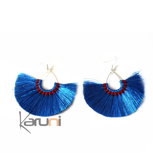 Blue Yarns Fancy Thai Earrings 4019