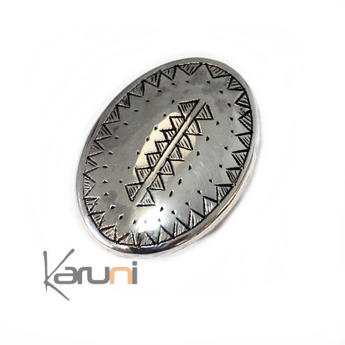 Ethnic Marquise Ring Sterling Silver 1011