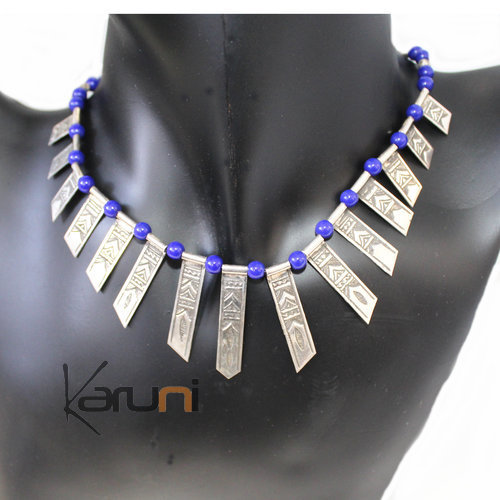 blue Celebra Silver Necklace