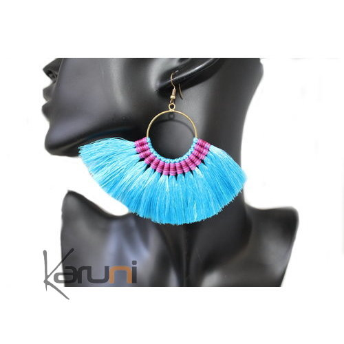 Turquoise Fancy Thai Earrings 4021