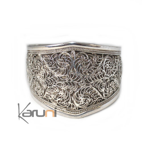 Indian Ethnic Jewelry Sterling Silver Bracelet 925 Nepal Filigranes Male / Female 3076