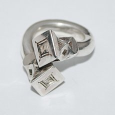 Ethnic Cross Ring Sterling Silver Jewelry Large Engraved Nail Tuareg Tribe Design