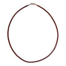 African Choker Ethnic Jewelry Sterling Silver Red Burgundy Tuareg Tribe Design